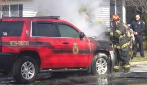 FIRE CHIEFS BUGGY BURNS ON LONG ISLAND (New York)