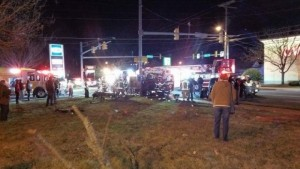 FIRE DEPARTMENT EMS CRASH IN BALTIMORE COUNTY INJURES CREW AND CIVILIANS