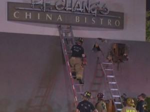 HOUSTON FIREFIGHTER HOSPITALIZED AFTER FIRE AT PF CHANGS