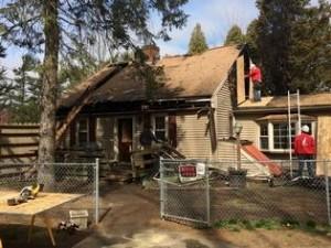 MA FIREFIGHTER INJURED AT FIRE AFTER FALL THRU FLOOR