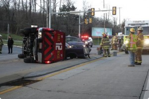 FIRE CHIEF INJURED IN RESPONDING CRASH