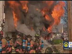 FIREFIGHTER DESCRIBES BEING TRAPPED IN PA BLAZE