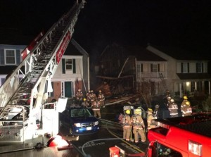 8 MARYLAND FIREFIGHTERS INJURED AT TOWNHOUSE FIRE COLLAPSE