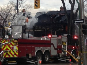 4 CANADIAN FIREFIGHTERS INJURED AT FIRE