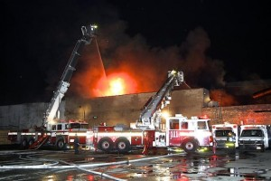 FDNY FIREFIGHTER INJURED AT CATERING HALL FIRE