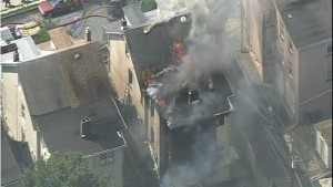 3 FIREFIGHTERS ESCAPE BEING TRAPPED AT PA FIRE