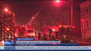 2 FIREFIGHTERS INJURED AT ALBANY, NY FIRE