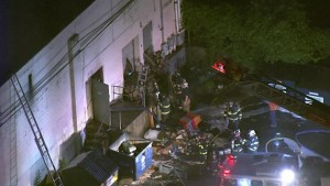 FIREFIGHTER INJURED AT PA 3RD ALARM