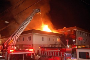 2 FIREFIGHTERS INJURED AT FIRE IN NJ