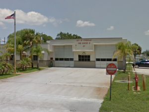 FL FIREFIGHTER SERIOUSLY INJURED IN FALL AT FIREHOUSE