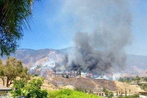 FIREFIGHTERS INJURED AT CA WILDLAND FIRE