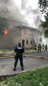 4 FIREFIGHTERS SUFFER HEAT EXHAUSTION AT CAMDEN BUILDING FIRE