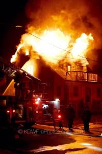 DETROIT FIRE COLLAPSE CLOSE CALL