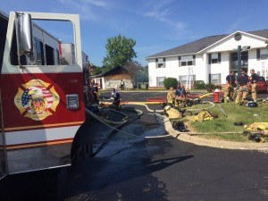 OHIO FIREFIGHTERS INJURED AT PARTIAL COLLAPSE