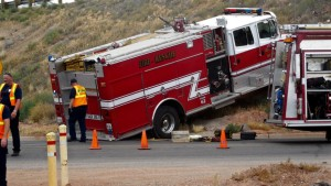 UTAH FIRE APPARATUS ROLLS AWAY WITHOUT DRIVER