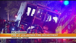FIRE APPARATUS FIRE IN NY FIREHOUSE