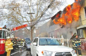 5 FDNY FIREFIGHTERS INURED AT BROOKLYN FIRE