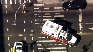 MAN CRITICAL AFTER BEING STRUCK BY FDNY AMBULANCE