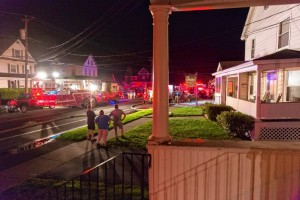 FIREFIGHTER INJURED AT MA FIRE