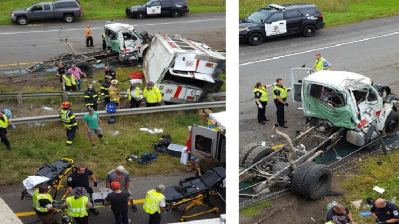 2 FIREFIGHTERS KILLED, 6 INJURED IN FIRE APPARATUS CRASH