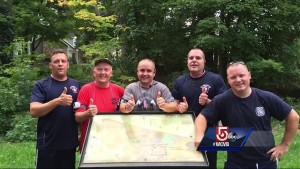 FIRE CHIEFS LIFE SAVED BY HIS OWN FIREFIGHTERS FROM CARDIAC ARREST