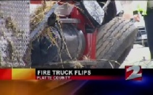 Fire Truck Flips, Sending Two Firefighters to the Hospital in MO