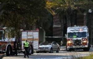 FIRE ENIGNE REAR ENDS UNMARKED PD CAR IN FL