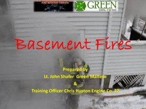 BASEMENT FIRE TRAINING PRESENTATION – FREE!