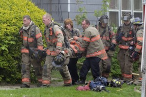 FF INJURED AT GRAND RAPIDS, MI FIRE