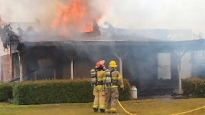 FIREFIGHTER INJURED IN MS BLAZE
