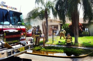 FIREFIGHTERS INJURED IN FL HOUSE FIRE