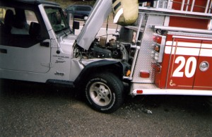 JEEP HIT THE REAR OF MEMPHIS ENGINE 20