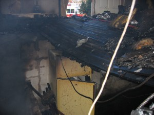 BASEMENT FIRE LEADS TO BURNED OUT FLOOR! BE ALERT!