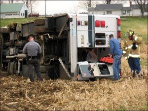 OHIO FD EMS UNIT OVERTURNS