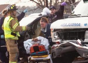 PATIENT DIES IN AMBULANCE CRASH – WEST MANCHESTER TOWNSHIP, PENNSYLVANIA