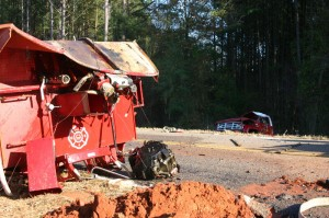 GEORGIA FIREFIGHTER CRITICAL AFTER TANKER ROLLOVER