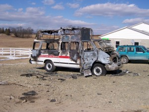 WHEELCHAIR VAN FIRE – WHAT'S INSIDE?