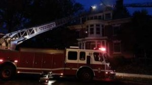 FOUR FFs INJURED IN RI FIRE