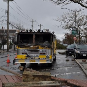 HURRICANE SANDY TAKES OUT THE BROAD CHANNEL VFD IN QUEENS, NY