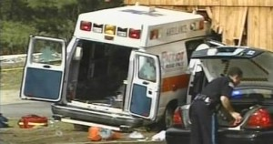 DRIVER, PATIENT KILLED IN AMBULANCE CRASH