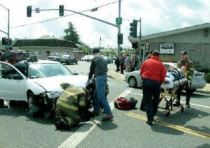 DOUBLE ACCIDENT INVOLVES AMBULANCE – OROVILLE, CALIFORNIA