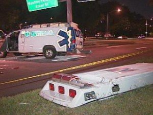 AMBULANCE CRASH INJURES 4 ON ROOSEVELT BLVD – PHILADELPHIA, PENNSYLVANIA