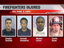UPDATE-DC FIREFIGHTERS BURNED