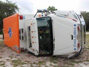 AMBULANCE ROLLOVER IN FL