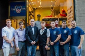 SONS OF FALLEN 9-11 FDNY FFs BEING PASSED UP TO SERVE