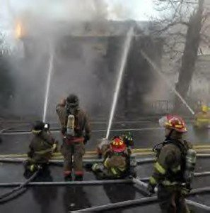 2 FIREFIGHTERS SHOCKED AT 2 DIFFERENT STRUCTURAL FIRES IN PA