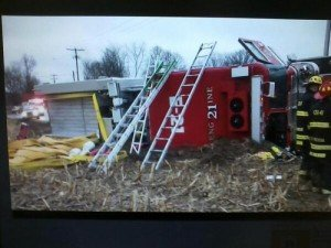 APPARATUS ROLLOVER CRASH IN YORK CO. PA
