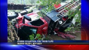 KY FF HURT IN BRIDGE COLLAPSE