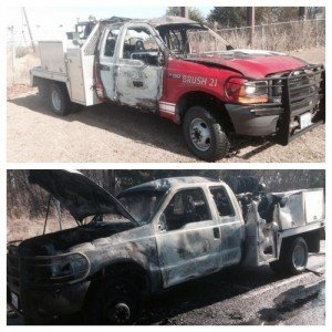 BRUSH TRUCK FIRE IN TX
