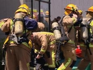 DUMPSTER FIRE HAZARD: Four firefighters transported to hospital in NZ
